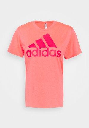 LOGO TEE - Print T-shirt - signal pink