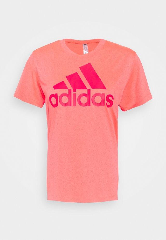 LOGO TEE - T-shirt con stampa - signal pink