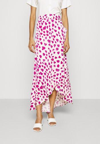 CORA SKIRT - Zavinovací sukně - white/pink