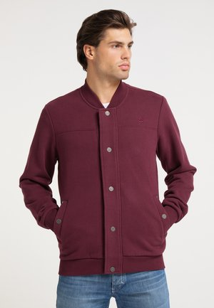 Zip-up sweatshirt - bordeaux