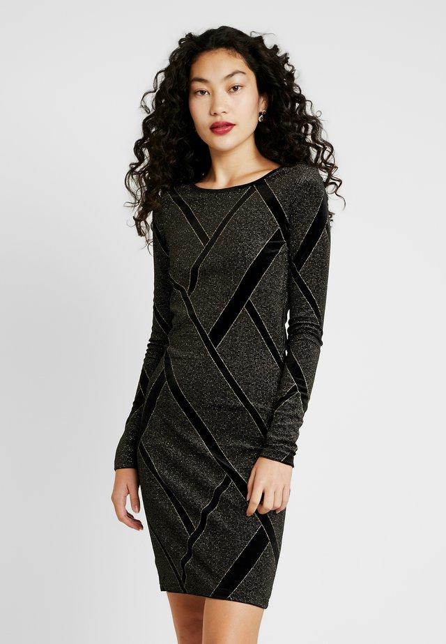 NMDIVA SHORT DRESS - Juhlamekko - black/gold