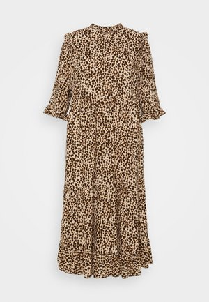 ANIMAL PIE CRUST FRILL MIDI - Maxi dress - brown pattern