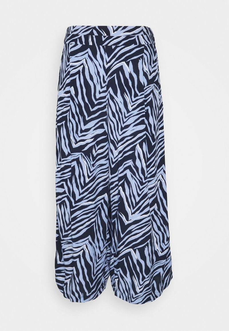 Marks & Spencer London - ZEBRA CULOTTE - Trousers - dark blue
