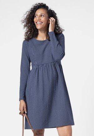 MATERNITY & NURSING - Jersey dress - navystrp
