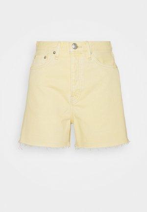 MAYA HIGH RISE SHORTY - Shorts vaqueros - lemon drop