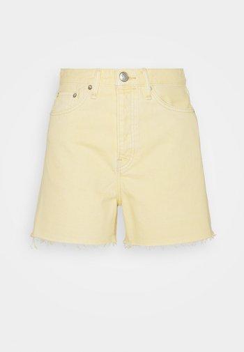 MAYA HIGH RISE SHORTY - Denim shorts - lemon drop