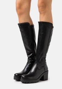 Tamaris - BOOTS - Platåstøvler - black - 0