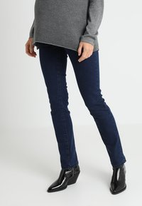 MAMALICIOUS - MLLOLA - Straight leg jeans - dark blue denim - 0