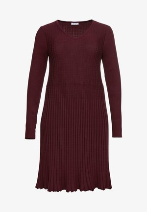 STRICKKLEID - Jumper dress - bordeaux