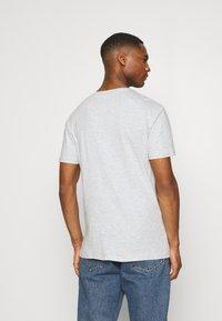 Pier One - 5 PACK - T-shirt basic - black/white/light grey - 2