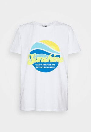PCSUNSHINE TEE - T-shirts med print - bright white