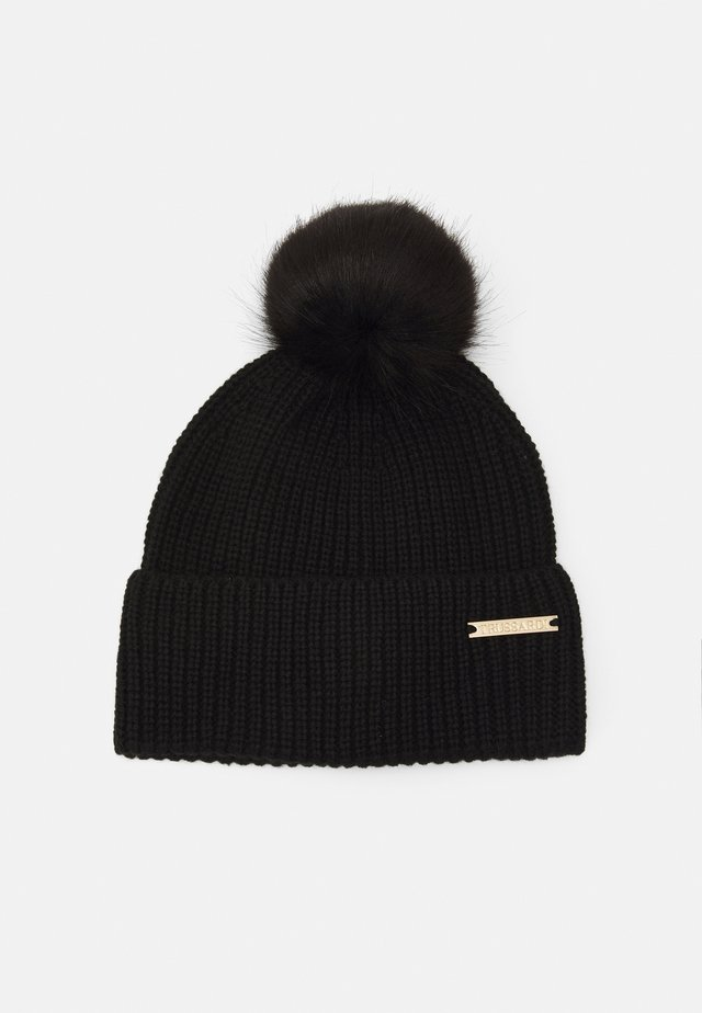 ECO POM POM HAT - Beanie - black