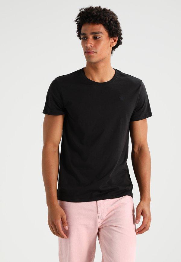 G-Star BASE HEATHER 2-PACK - T-shirt basic - solid black/czarny Odzież Męska OKGZ