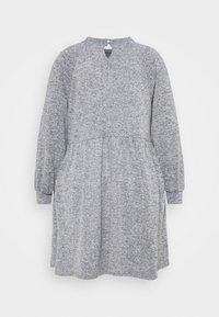 New Look Curves - FUZZY RAGLAN - Jumper dress - dark grey - 1