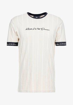 CLIFTON - Print T-shirt - sand /white