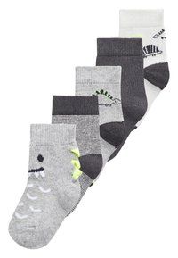 Next - MONOCHROME 5 PACK DINOSAUR SOCKS (YOUNGER) - Socks - grey - 0