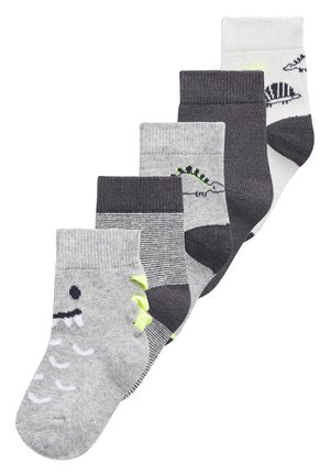 MONOCHROME 5 PACK DINOSAUR SOCKS (YOUNGER) - Socks - grey