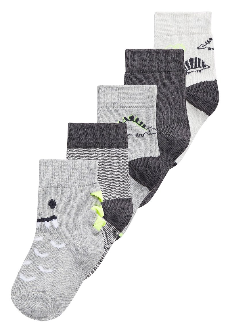 Next - MONOCHROME 5 PACK DINOSAUR SOCKS (YOUNGER) - Socks - grey