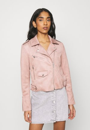 ONLSHERRY BIKER - Faux leather jacket - adobe rose