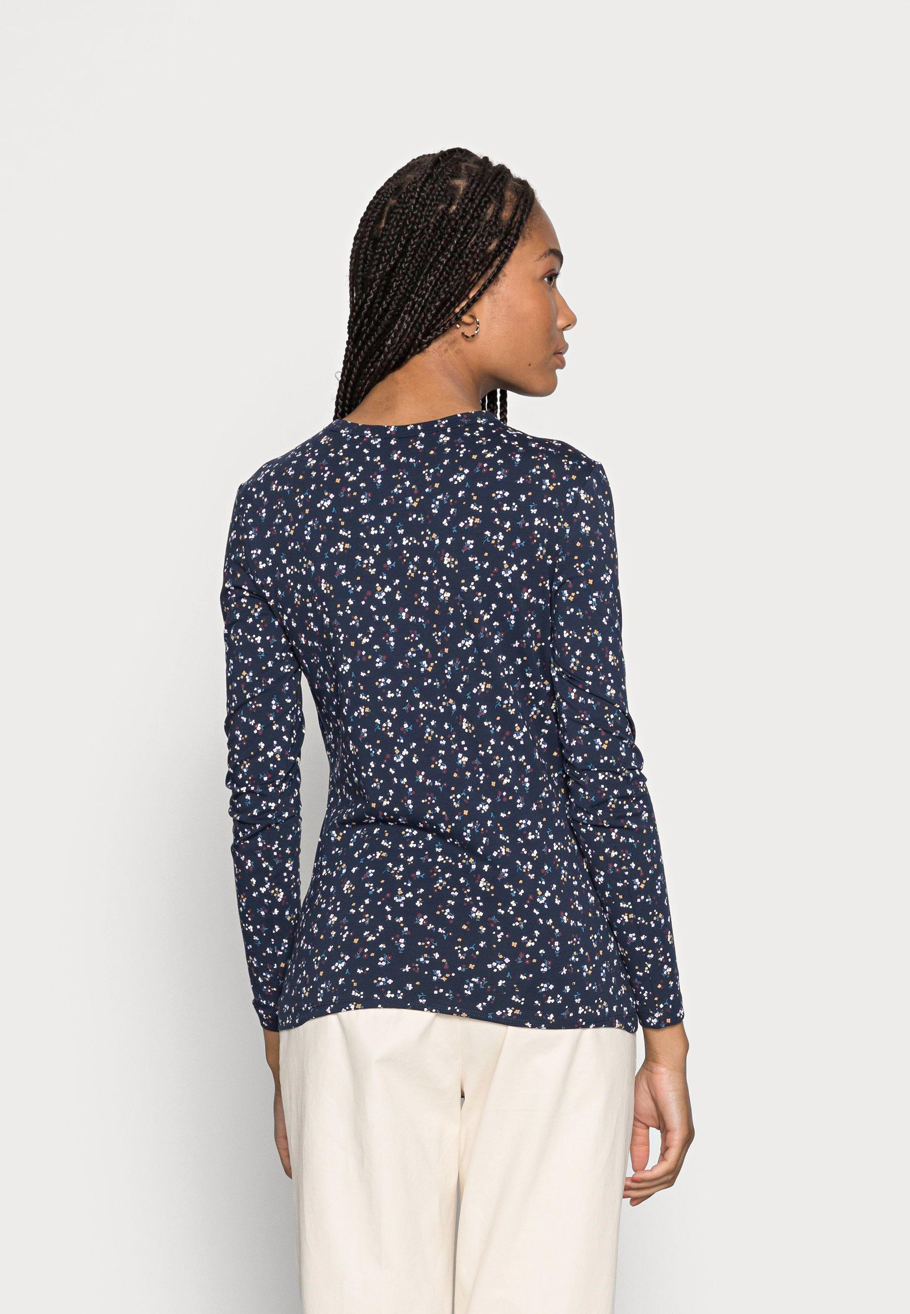 Women Long sleeved top - navy