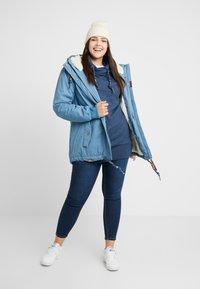 Ragwear Plus - DANKA MINIDOTS COAT - Kåpe / frakk - blue - 1