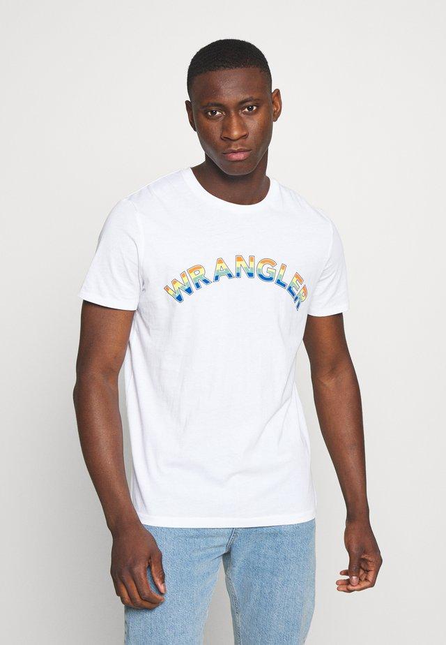 RAINBOW TEE - T-Shirt print - white
