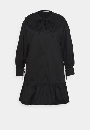 BABYDOLL MINI DRESS WITH SCALLOP COLLAR - Day dress - black