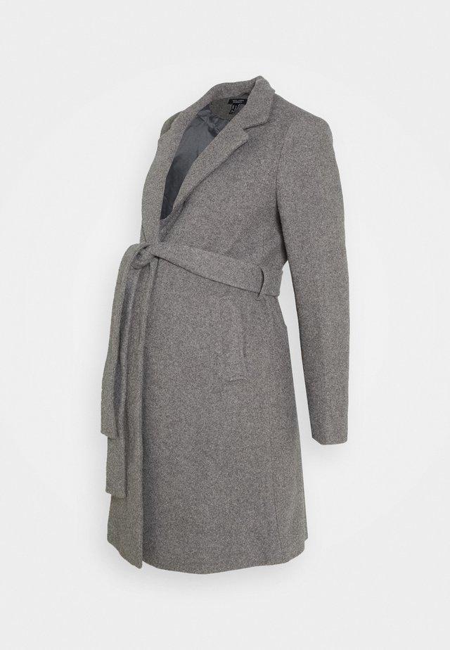JORDAN BELTED JACKET - Classic coat - grey