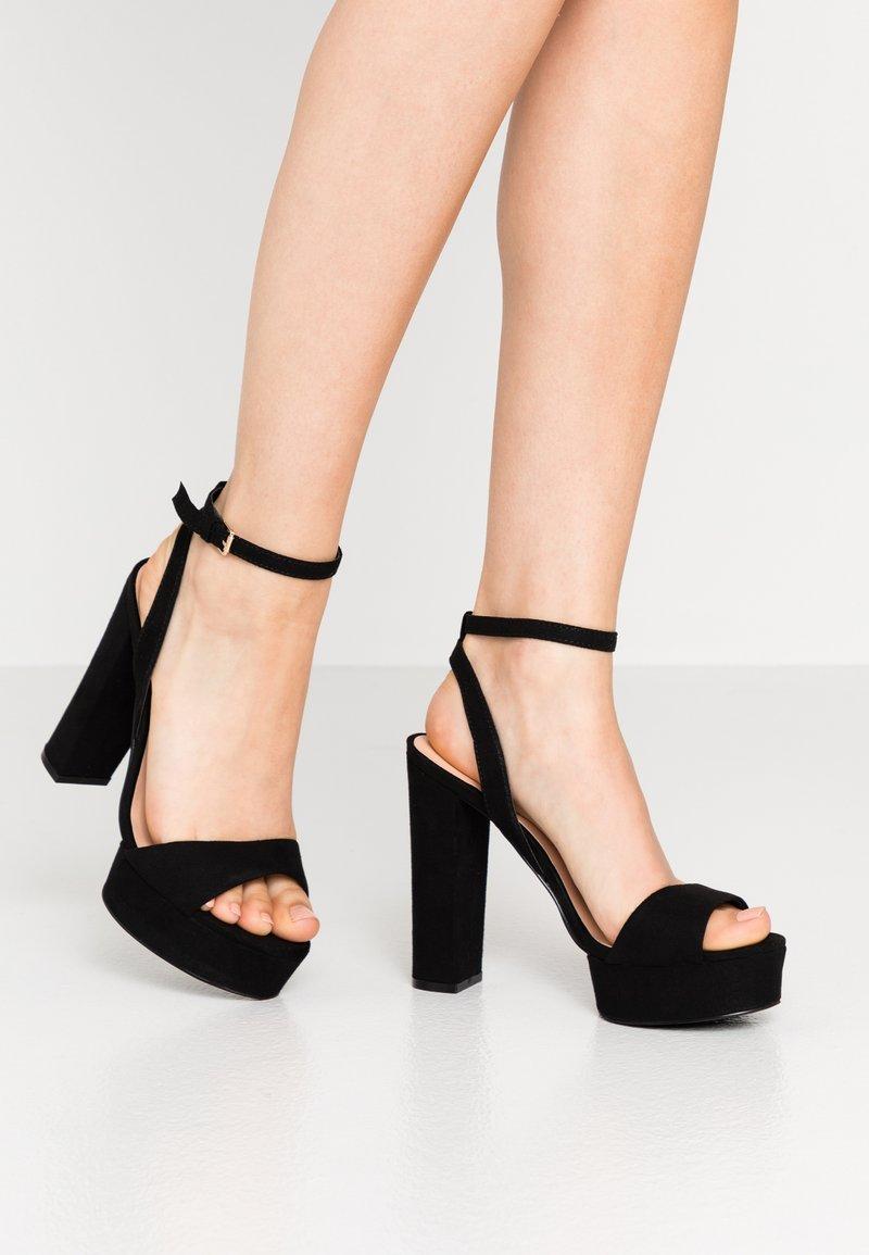 Even&Odd - Sandály na vysokém podpatku - black