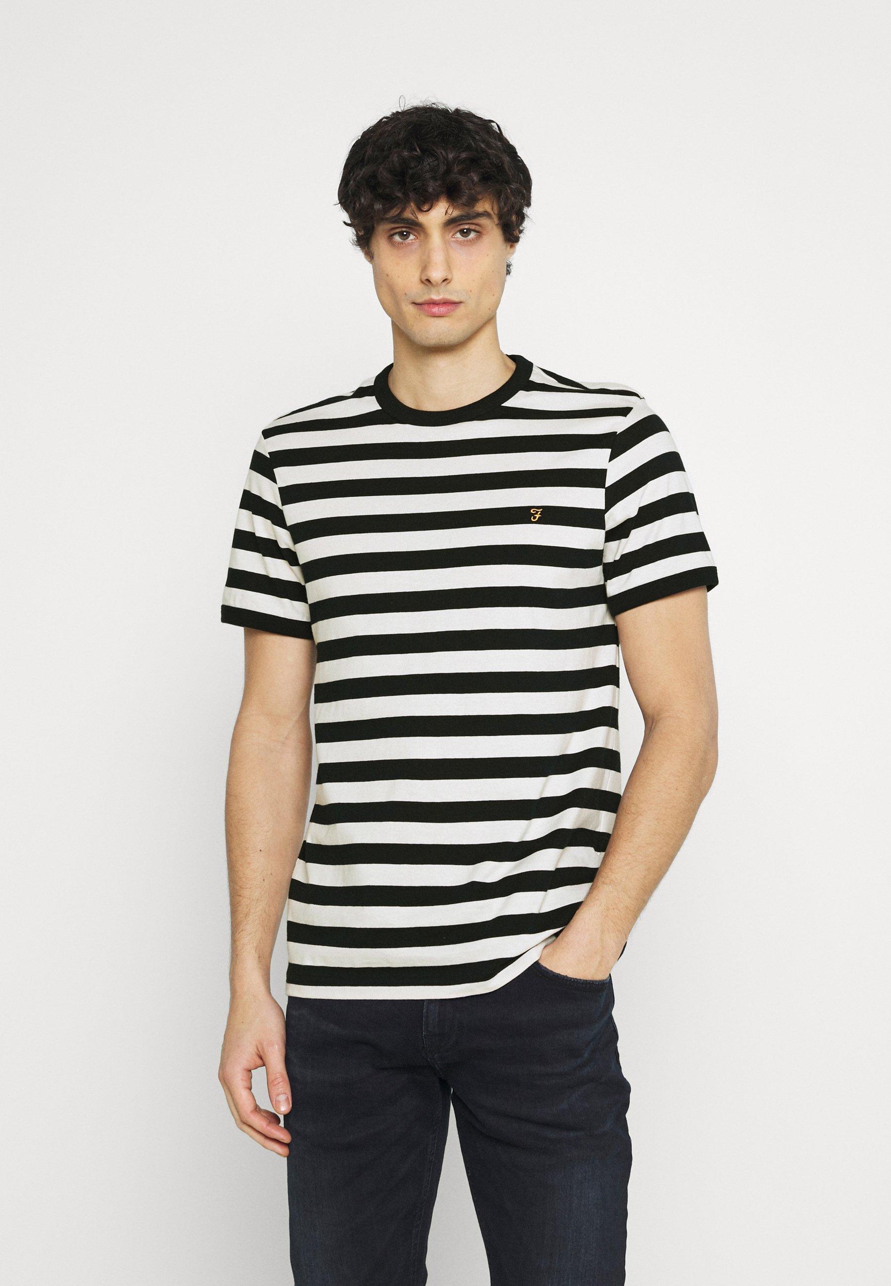 Men BELGROVE STRIPE - Print T-shirt