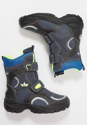 SAMUEL - Winter boots - marine/blau/lemon