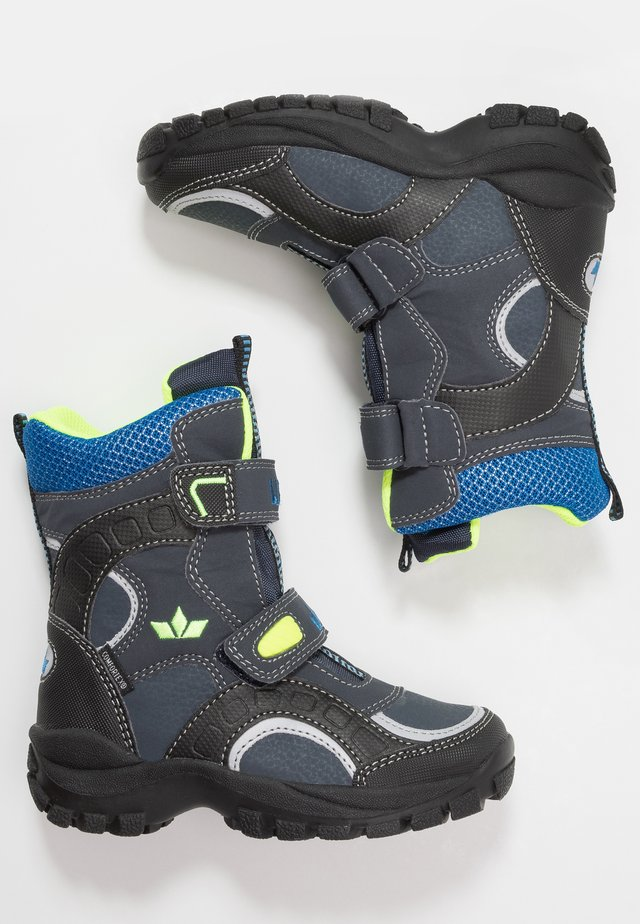 SAMUEL - Winter boots - marine/blau/lemon