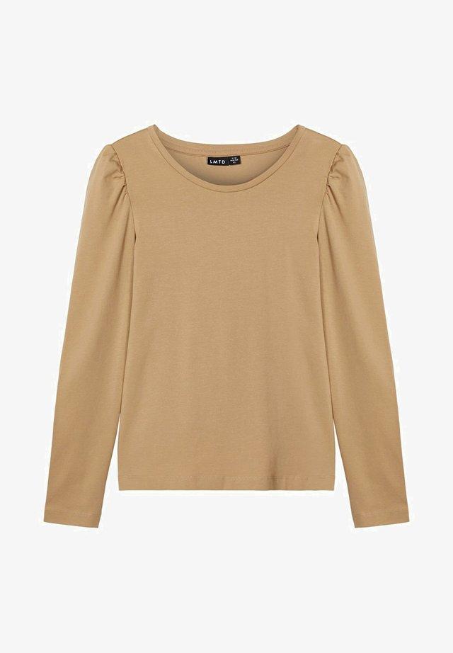 Long sleeved top - travertine