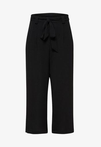 ONLWINNER PALAZZO CULOTTE PANT - Trousers - black
