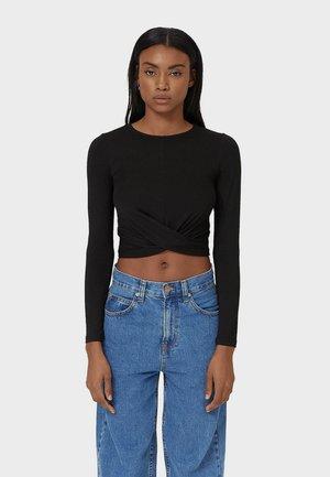 IN WICKELOPTIK - Bluzka z długim rękawem - black