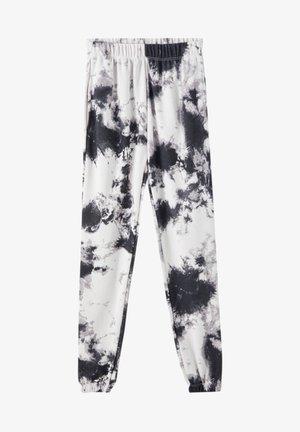 MIT TIE-DYE IM KONTRAST - Trousers - light grey