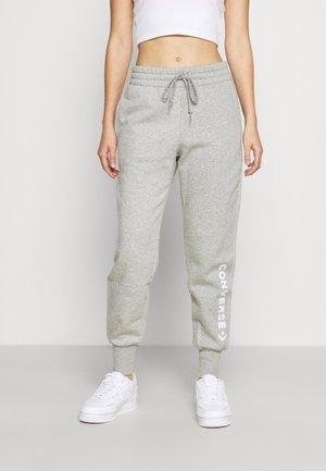 EMBROIDERED PANT - Teplákové kalhoty - grey
