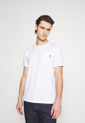 POCKET TEE - T-shirt - bas - white