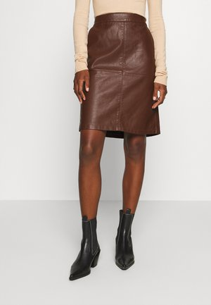 GUNILLA  - A-line skirt - brown