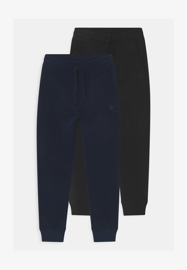 2 PACK - Tracksuit bottoms - black beauty/salute