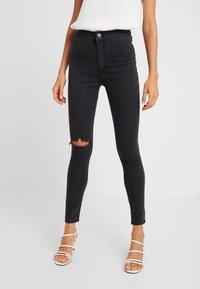 Cotton On - HIGH RISE - Skinny džíny - faded black - 0