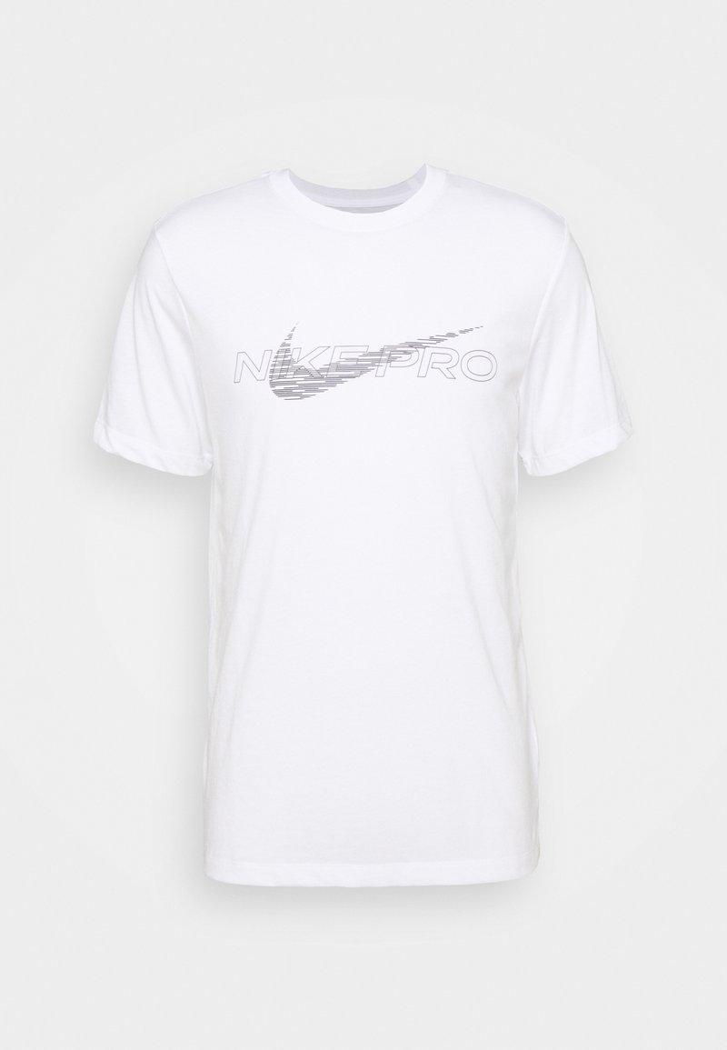 Nike Performance - TEE PRO - Printtipaita - white