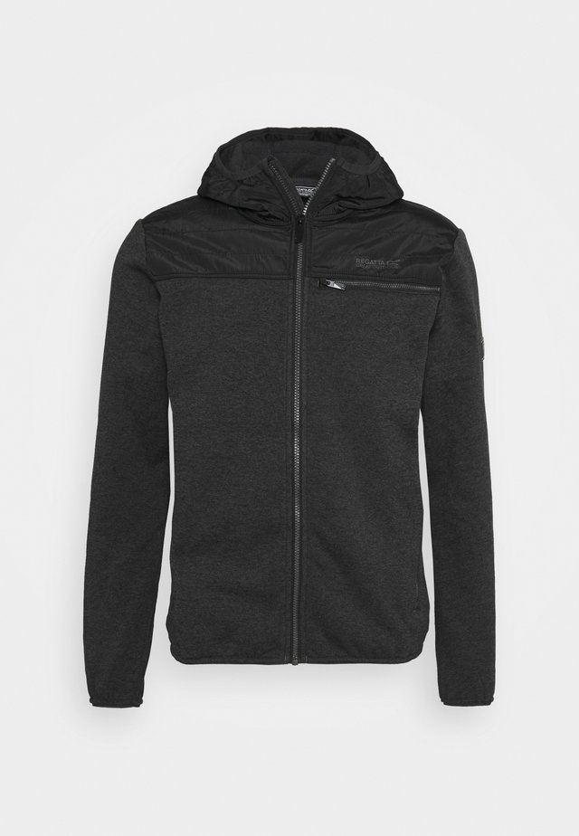 UPHAM HYBRID - Fleece jacket - black