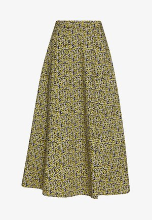 DOVE MAXI SKIRT - Maxiskjørt - black/yellow