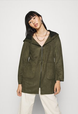 ONLHANNAH HOODED JACKET - Short coat - forest night