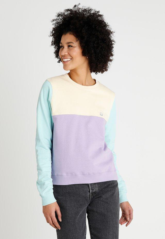 YSTAD SPLIT - Sweatshirt - pale yellow