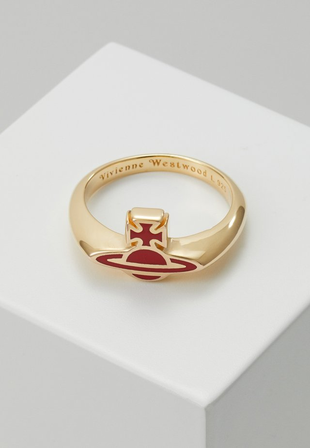 ROMINA  - Anillo - red/gold-coloured