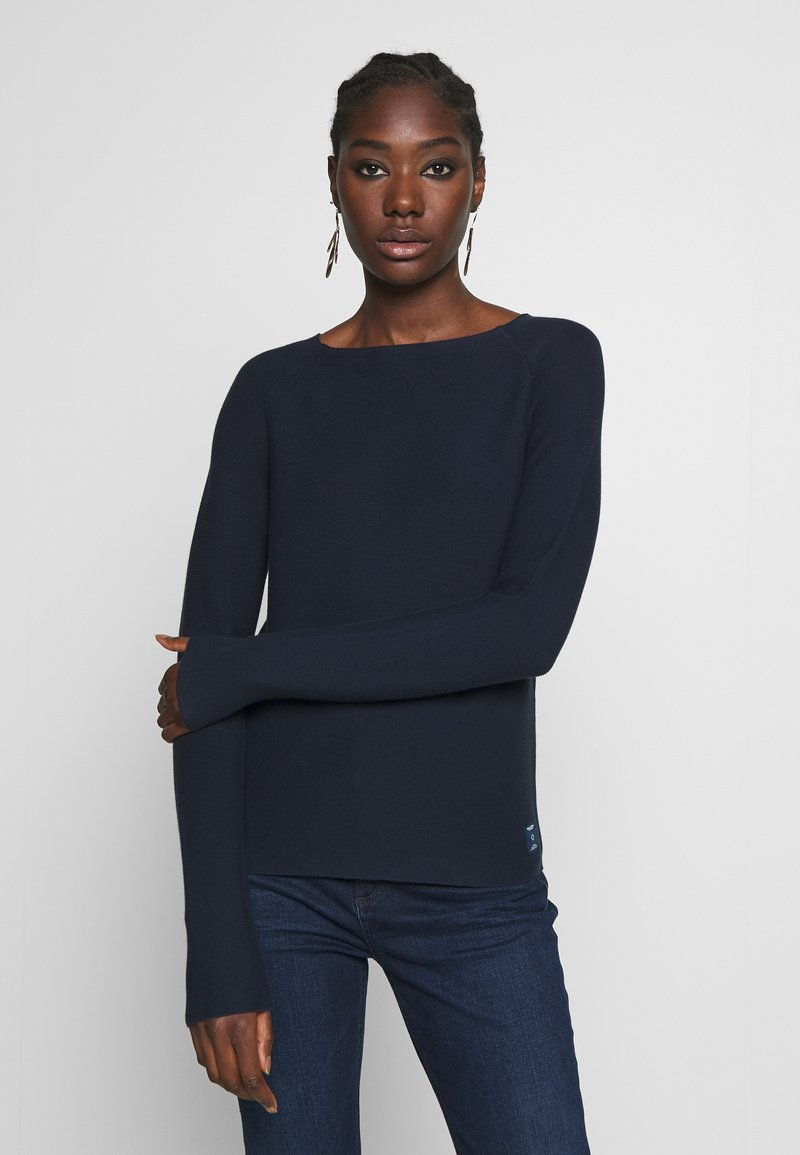 Marc O'Polo DENIM - LONG SLEEVE CREW NECK - Jumper - scandinavian blue