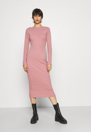 POPPER FRONT MIDAXI DRESS - Day dress - blush