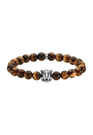 ARMBAND 925 STERLINGSILBER, GESCHWÄRZT - Bracelet - schwarz, silberfarben, braun